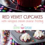 Red Velvet Cupcakes with Whipped Cream Cheese Icing | Literally the best Red Velvet Cupcake recipe in the entire world! Moist and flavorful, you can actually taste the chocolate & vanilla notes in the classic buttermilk batter.