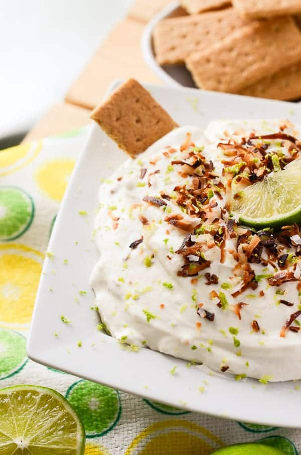 Coconut Key Lime Cheesecake Dip