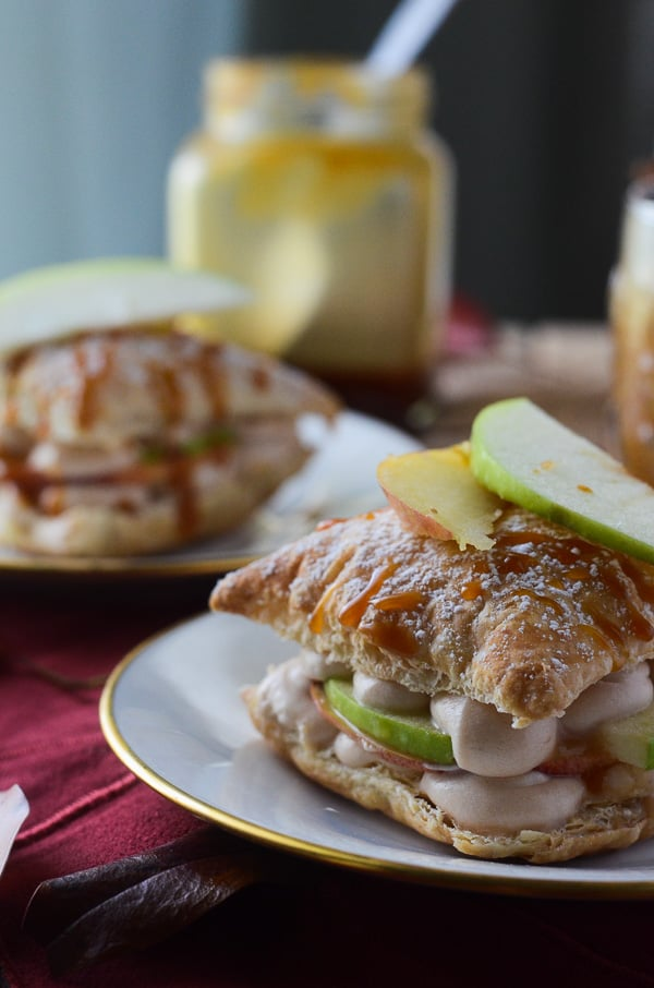 Caramel Apple Napoleons | A sweet, fruity take on the flaky dessert, these Napoleons are bursting with fall flavors!