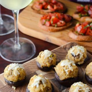 Crabcake Stuffed Mushrooms