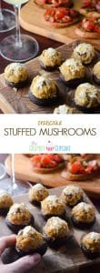 Crabcake Stuffed Mushrooms | A perfect snack for any dinner, party, or a fancy Girl's Night In, these apps combine the simplicity of crabcakes with the fun of stuffed mushrooms.