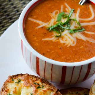 Crock Pot Roasted Tomato Bacon Bisque