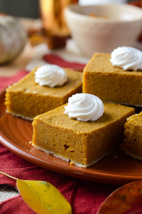 Pumpkin Cream Cheese Bars | Creamy, decadent little pumpkin pie bars ...