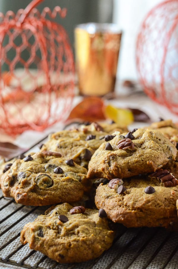 Pecan Pumpkin Chocolate Chip Cookies #PumpkinWeek