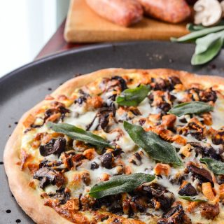 Autumn Sausage & Sweet Potato Pizza #SundaySupper