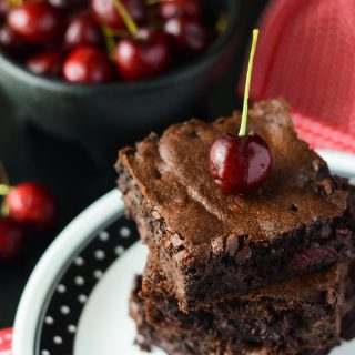 Black Forest Brownies #Choctoberfest