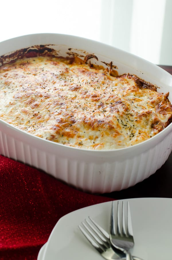 Baked Eggplant Parmesan   A healthier version of the Italian classic, this Baked Eggplant Parmesan is packed full of filling veggie goodness...and lots of glorious cheese!