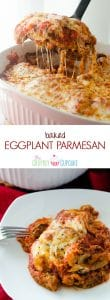 Baked Eggplant Parmesan | A healthier version of the Italian classic, this Baked Eggplant Parmesan is packed full of filling veggie goodness...and lots of glorious cheese!