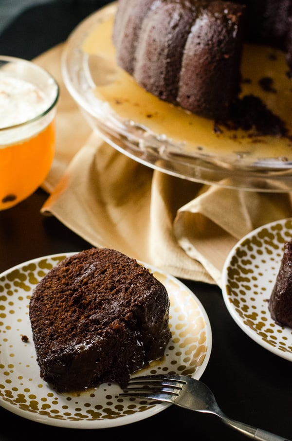 Dark Chocolate Rum Bundt Cake