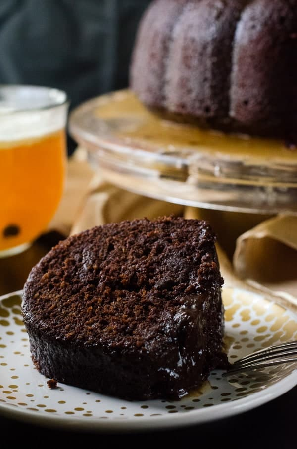 Hot Chocolate Buttered Rum Bundt Cake