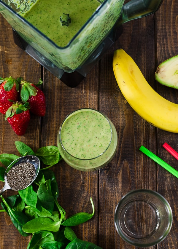 Green Goddess Fruit Smoothie   This healthy, dairy-free, vegan Green Goddess smoothie is loaded with spinach, avocado, and lots of fresh fruit, providing plenty of nutrients to power you through your day.