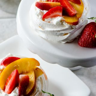 Mini Strawberry Peach Pavlovas