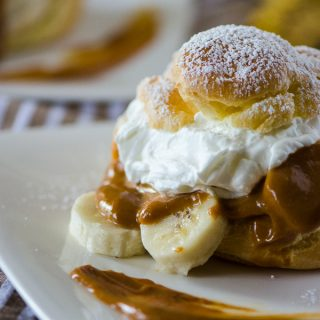 Banoffee Cream Puffs