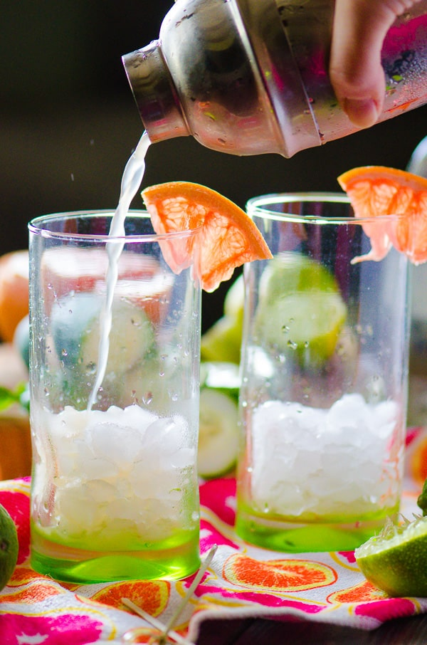 Cucumber Grapefruit Basil Mojito | Citrusy, earthy, and not too sweet, this refreshing spring cocktail is perfect for lounging and enjoying the weather no matter where you live!