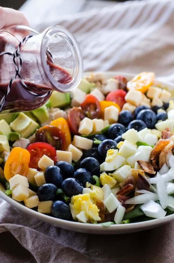 Blueberry Cobb Salad with Blueberry Balsamic Vinaigrette