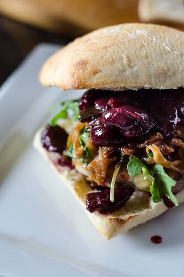 Cherry Cabernet Burger with Caramelized Onions - The ...