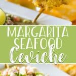 "This cocktail-inspired Margarita Ceviche is a winner for any seafood lover! Fresh calamari, ahi tuna, scallops, and shrimp are ""cooked"" in lots of lime juice & tequila, then tossed with fresh vegetables. Serve it with tortilla chips or tostones - crispy fried green plantains - for a fab summer tapas dish!"
