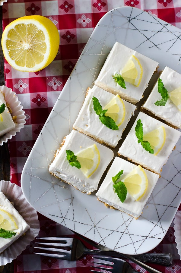 Light, fluffy, and totally refreshing, Nana's No-Bake Cheesecake Squares are a knockout ending to a steamy summer barbecue or picnic! Make a double batch to share at your next pool party!