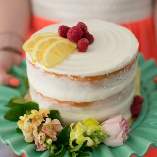 Raspberry Lemon Cake and a #SummerFloralParty