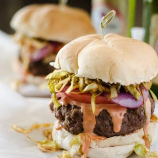 Mr. Crumby's Kitchen: Dominican Chimichurri Burger