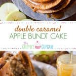 So much caramel! This Double Caramel Apple Bundt Cake isn't just boasting - moist caramel cake, loaded with apples and a little spice, then doused in even more caramel sauce for a deliciously sweet dessert experience!