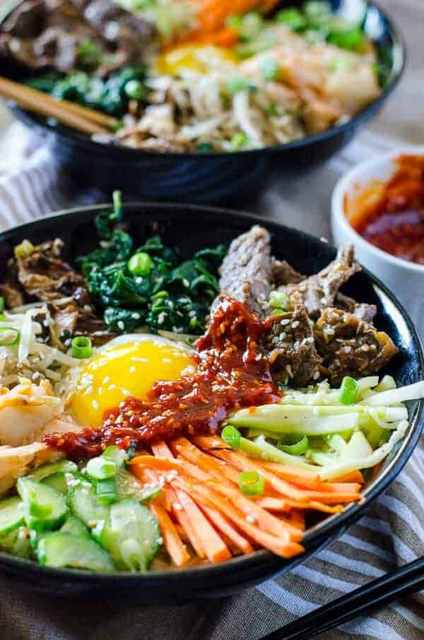 Easy Korean Bibimbap Recipe The Crumby Kitchen