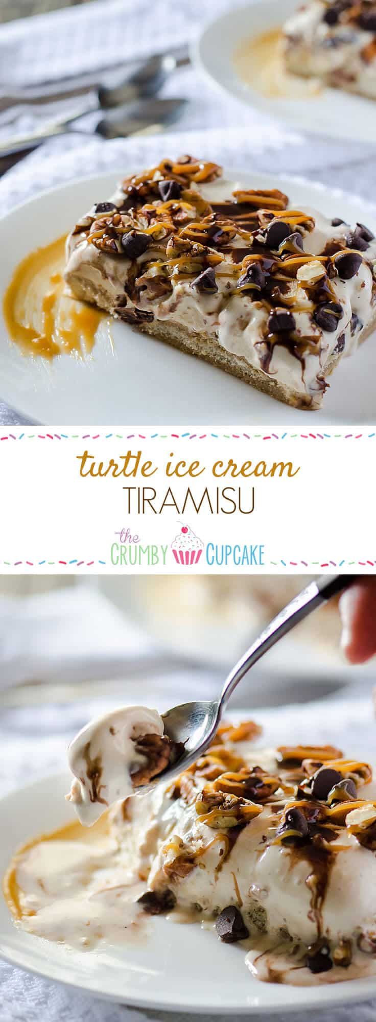 How do you make an already delicious dessert even better? Add a few more ingredients and turn it into a twisted frozen classic - Turtle Ice Cream Tiramisu!