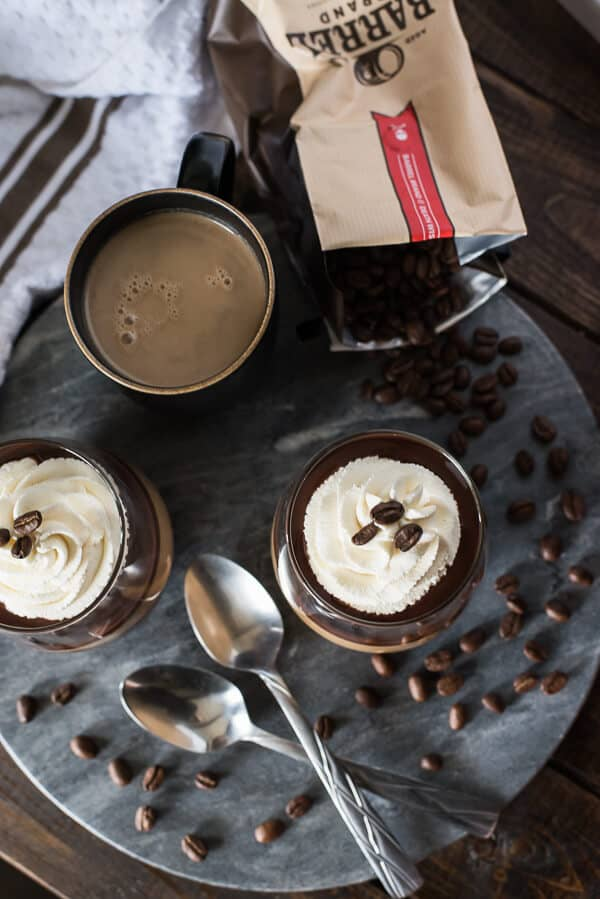 Mocha Panna Cotta with Mascarpone Cream - The Crumby Kitchen