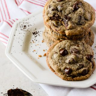 Brown Butter Coffee Chocolate Chunk Cookies
