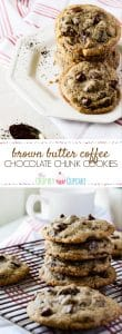Fall isn't just pumpkins, maple, and apples . It's all things warm and cozy, and a batch of these Brown Butter Coffee Chocolate Chunk Cookies is just what you need to jumpstart your heart right into the cooler weather!