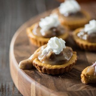 Mini Pumpkin Pecan Cheesecakes #PumpkinWeek