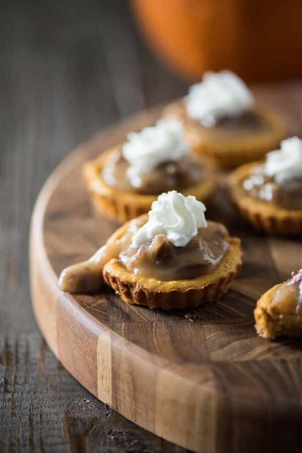 Mini Pumpkin Pecan Cheesecakes