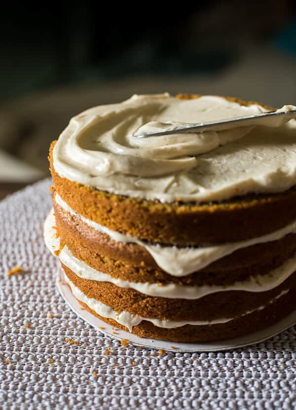 Pumpkin Layer Cake with Brown Butter Cream Cheese - The ...