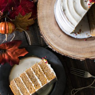 Pumpkin Layer Cake with Brown Butter Cream Cheese