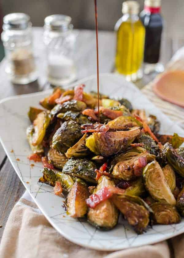 Bacon Balsamic-Roasted Brussels Sprouts