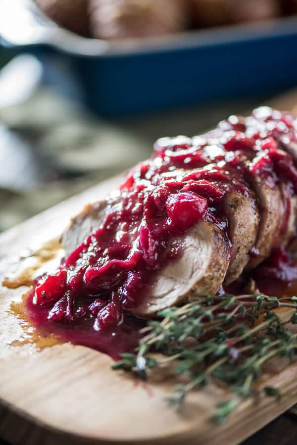 When you're finally over leftovers, transform your holiday cranberry sauce into a delicious garnish for a simple and perfectly cooked Cranberry Pork Tenderloin!