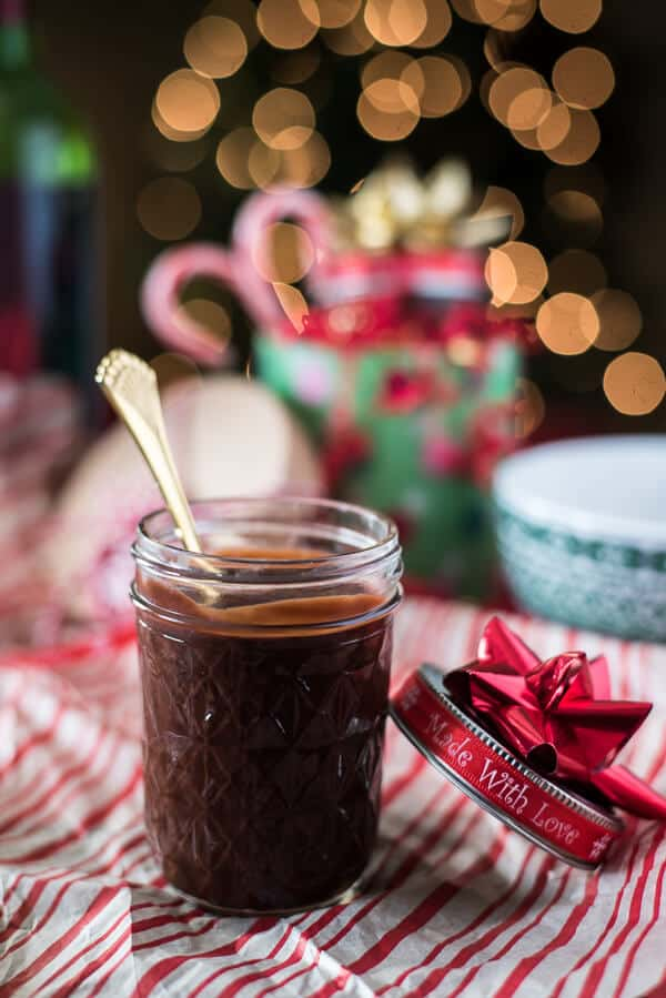 Red Wine Hot Fudge Sauce is a great gift for chocolate and vino lovers alike - perfect for those bowls of ice cream that just need a little extra something special!