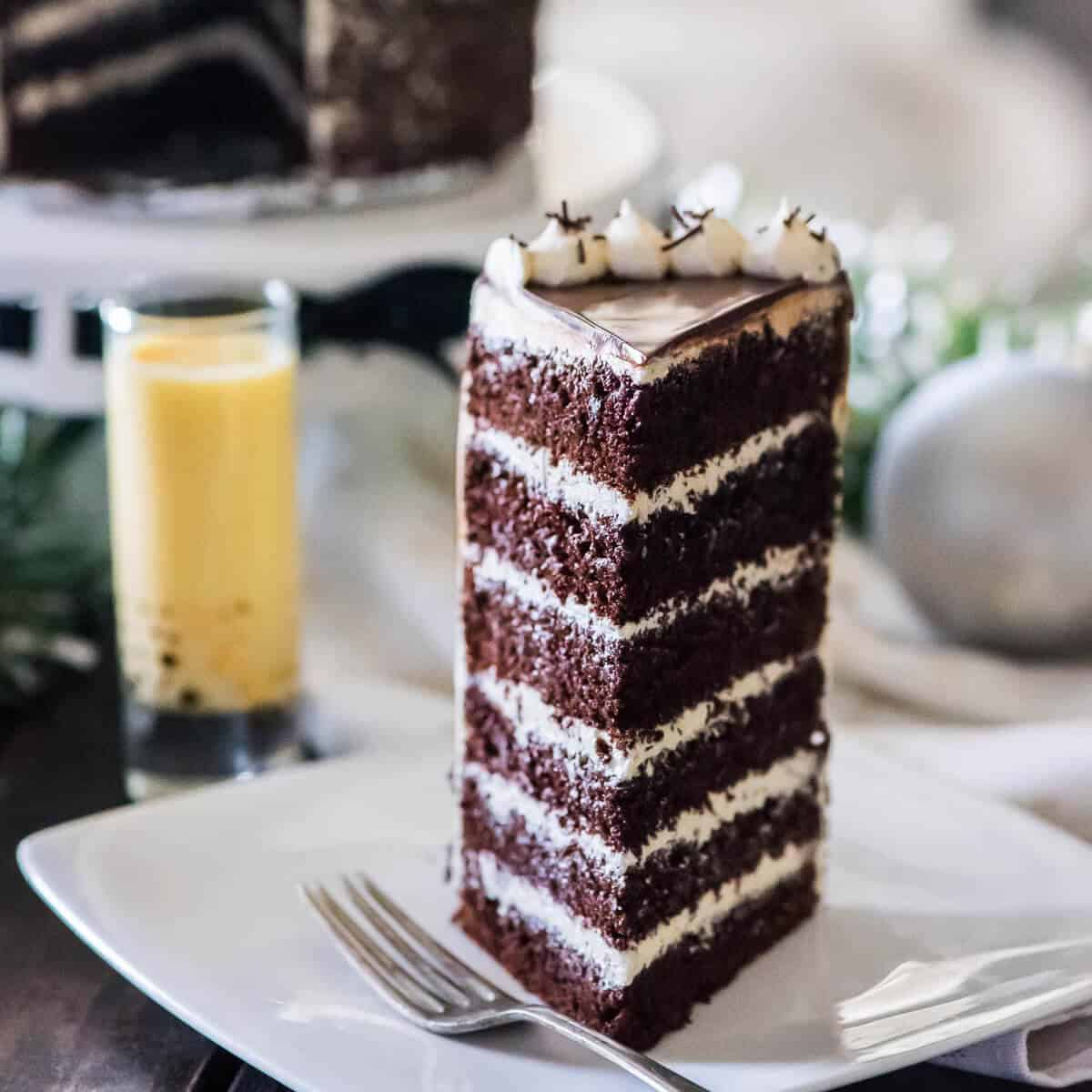 Most Popular in 2016: #9 Spiced Chocolate Eggnog Cake