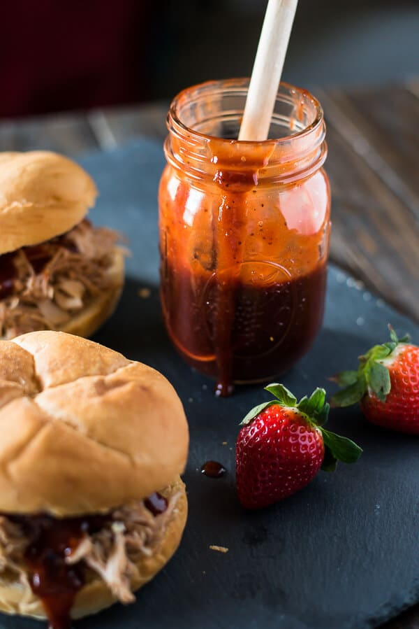Looking for a fast, delish dinner celebrating the best berries you'll eat all year? This Spicy Strawberry BBQ Shredded Chicken is a unique way to showcase the versatility of strawberries - and can be ready in less than 30 minutes!