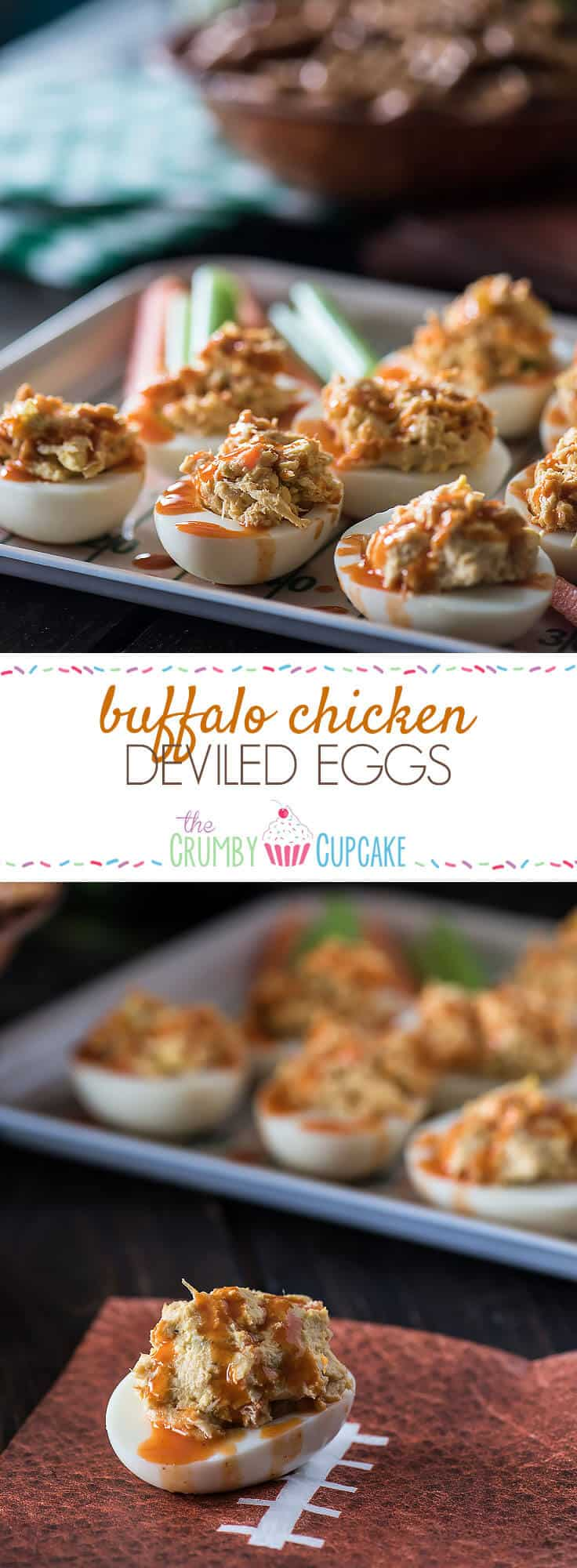 Can't decide between the chicken or the egg? Have both! These Buffalo Chicken Deviled Eggs are everything you love about big game appetizers, and so much more!