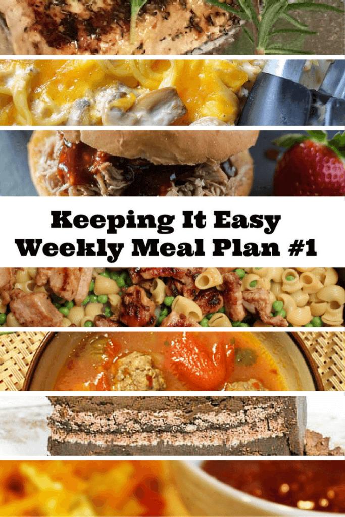 Weekly Meal Plan – Week 1