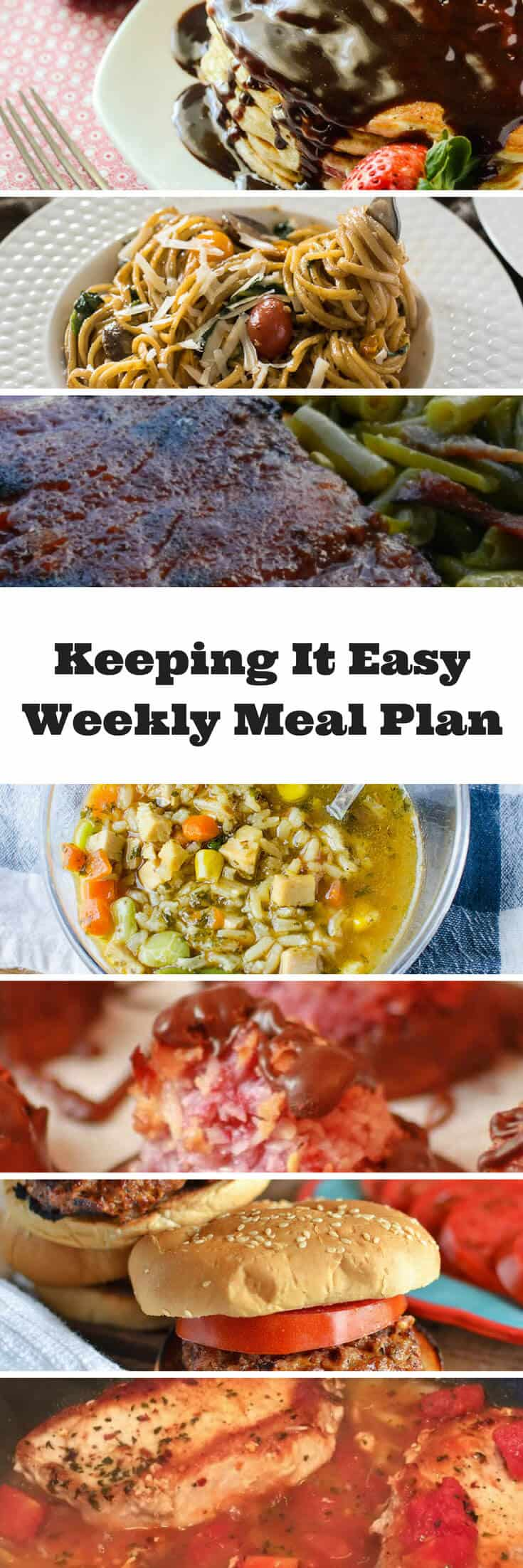 #KeepItEasy Weekly Meal Plan - Week 4