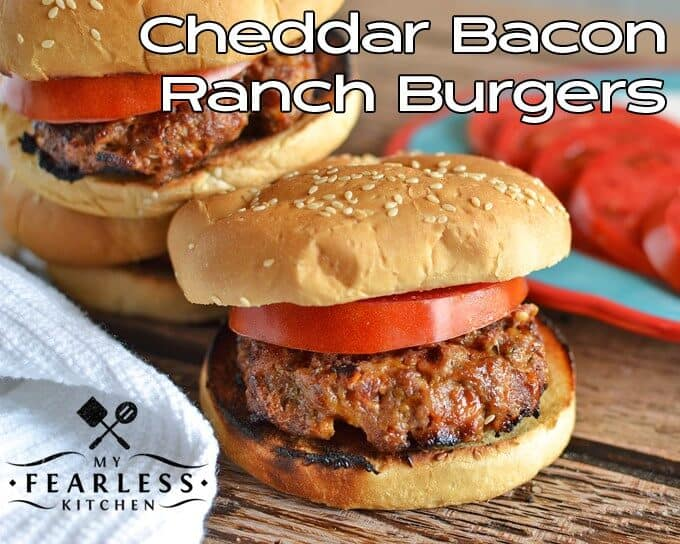 #KeepItEasy Weekly Meal Plan - Cheddar Bacon Ranch Burgers