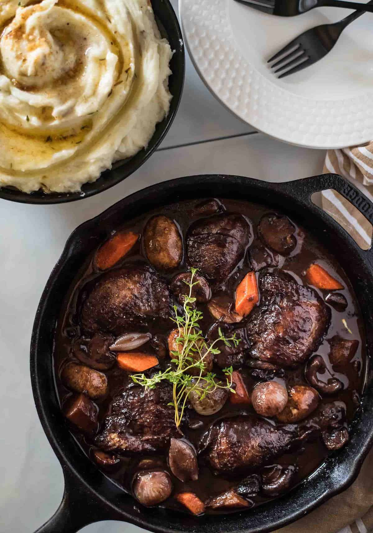 Classic Coq Au Vin for Two
