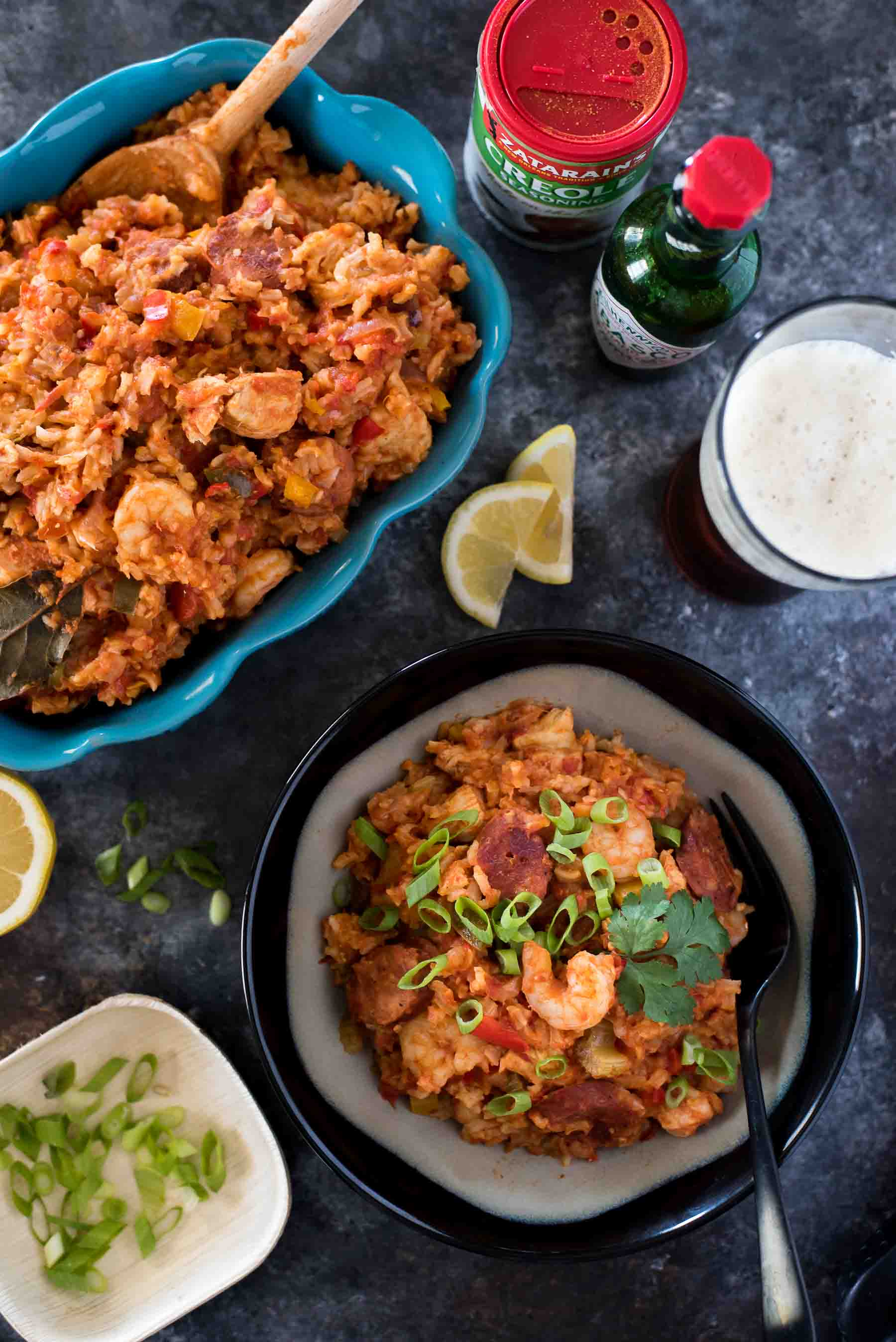 Mardi Gras isn't complete without some Creole food, so throw this Slow Cooker Jambalaya on while you hit up a parade or bake some beignets! Andouille sausage, chicken, and shrimp marry with Cajun-spiced rice and vegetables in this easy weekday or weekend meal.