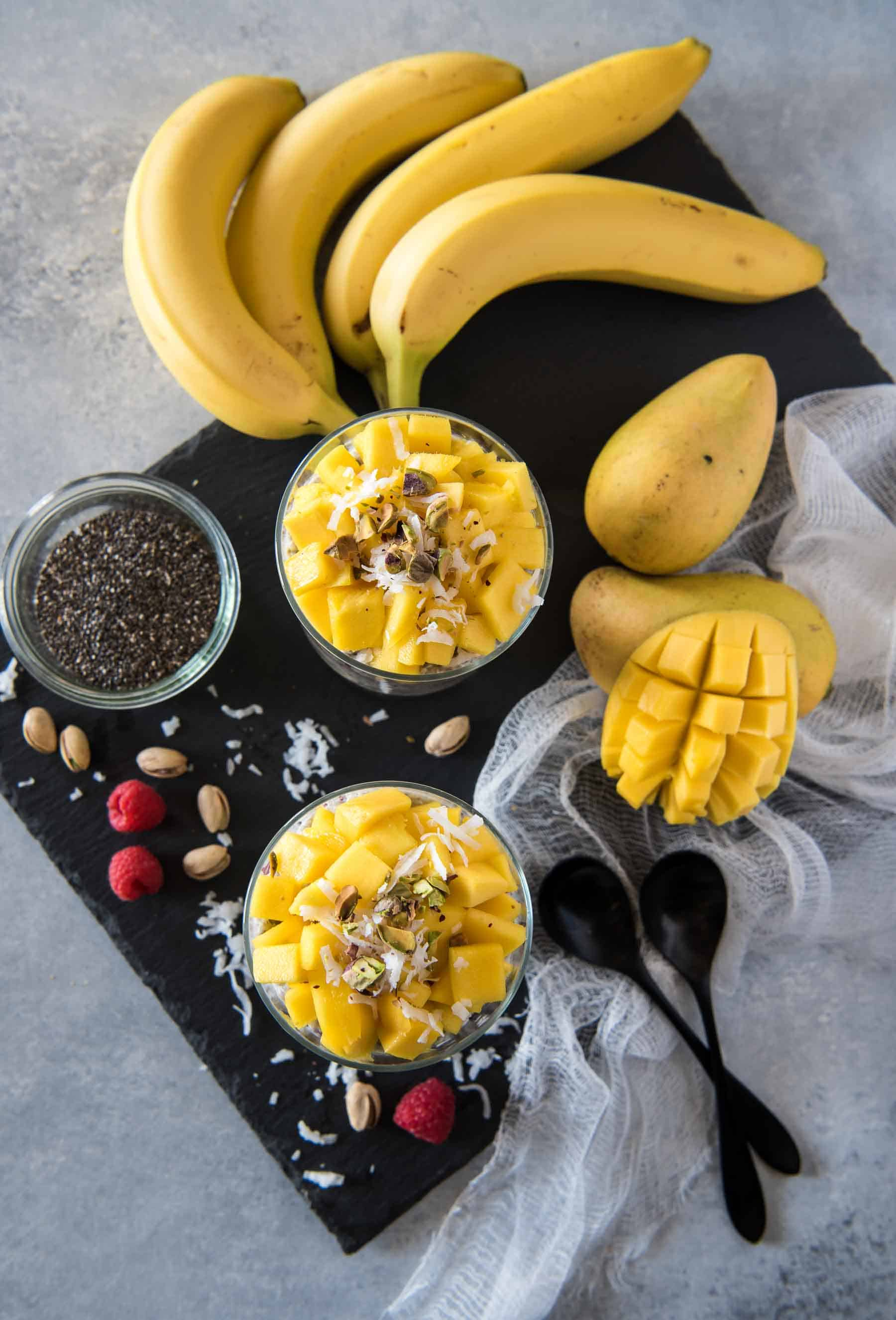 Go healthy with the most surprising dessert! This vegan, paleo, gluten-free Coconut Mango Chia Pudding Parfait is super simple to throw together and will satisfy even the biggest sweet tooth!