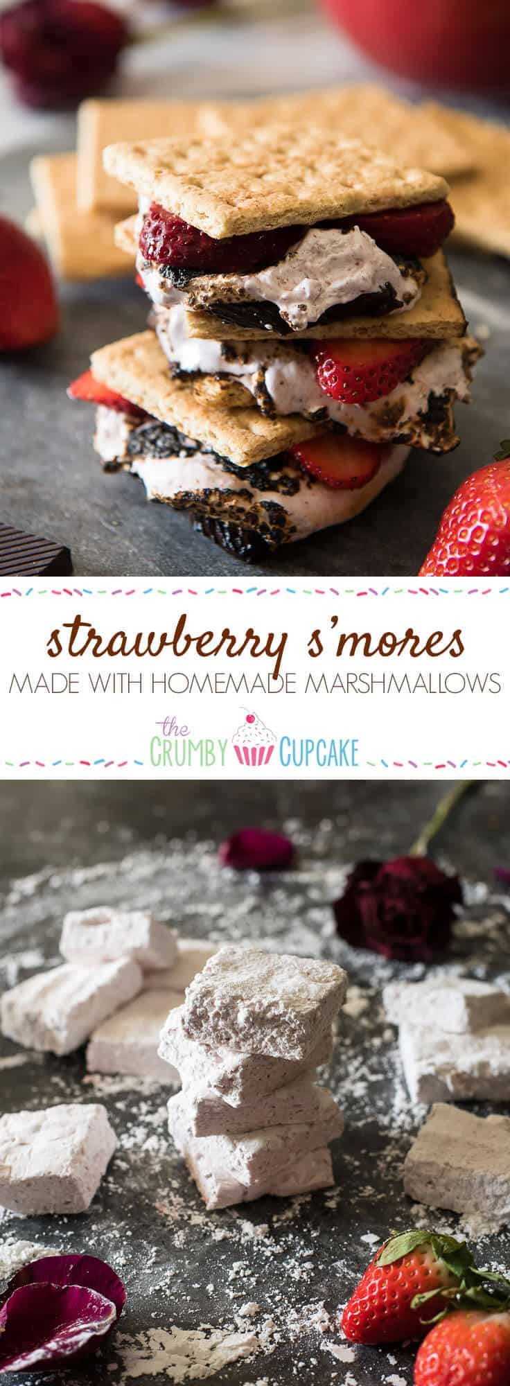 Strawberry S'mores - because winter s'mores are totally a thing! Take these classic treats up a notch by replacing the store-bought standard with homemade strawberry marshmallows, made from dehydrated Florida strawberries! @Flastrawberries #SundaySupper #FLStrawberry