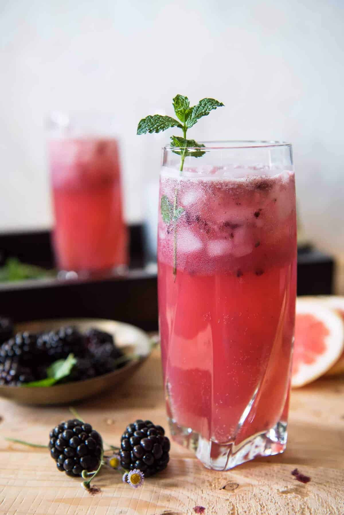 Blackberry Paloma Cocktail