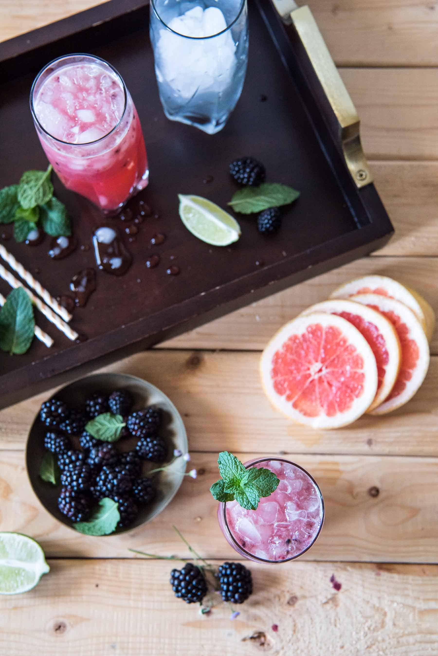 The Blackberry Paloma is a berry delicious take on an already twisted cocktail! Muddle grapefruit juice and blackberries together with a little tequila, mint, and sugar, and you've got yourself a lovely version of the popular Mexican drink.
