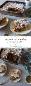 Perfect for breakfast, brunch, or as a midnight snack with a glass of milk, my Nana's New York Crumb Cake is a soft, sweet, satisfyingly crumby addition to your recipe repertoire!
